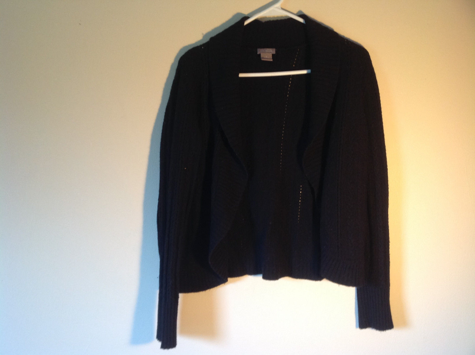 Black Ann Taylor Long Sleeve Sweater Size Large
