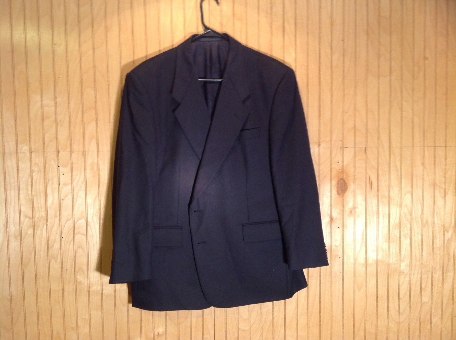 Black C H Oliver Sport Coat Size 40 Super 100s Luxury Wool Fabric