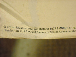 1977 British Museum of Natural History Poster Mounted on Frame Core image 4