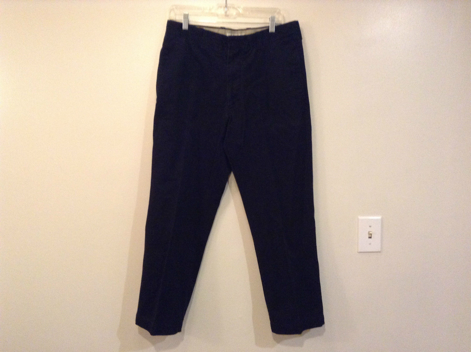Black Casual Pants Size 34 by 29 Geoffrey Beene Button and Zipper Closure