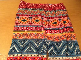 Aztec spring summer vibrant colored leggings NEW in package  image 11