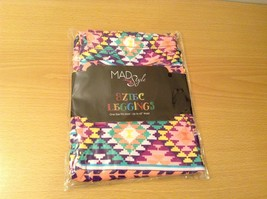 Aztec spring summer vibrant colored leggings NEW in package  image 7