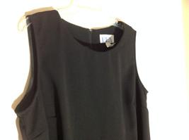 BFA Classics Sleeveless Black Full Length Dress Zipper at Back of Neck Size 18W image 2