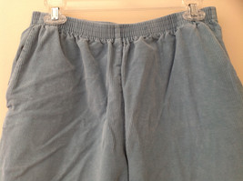 Baby Blue Alfred Dunner Blue Corduroy Elastic Waistband Pants Size 14P image 2