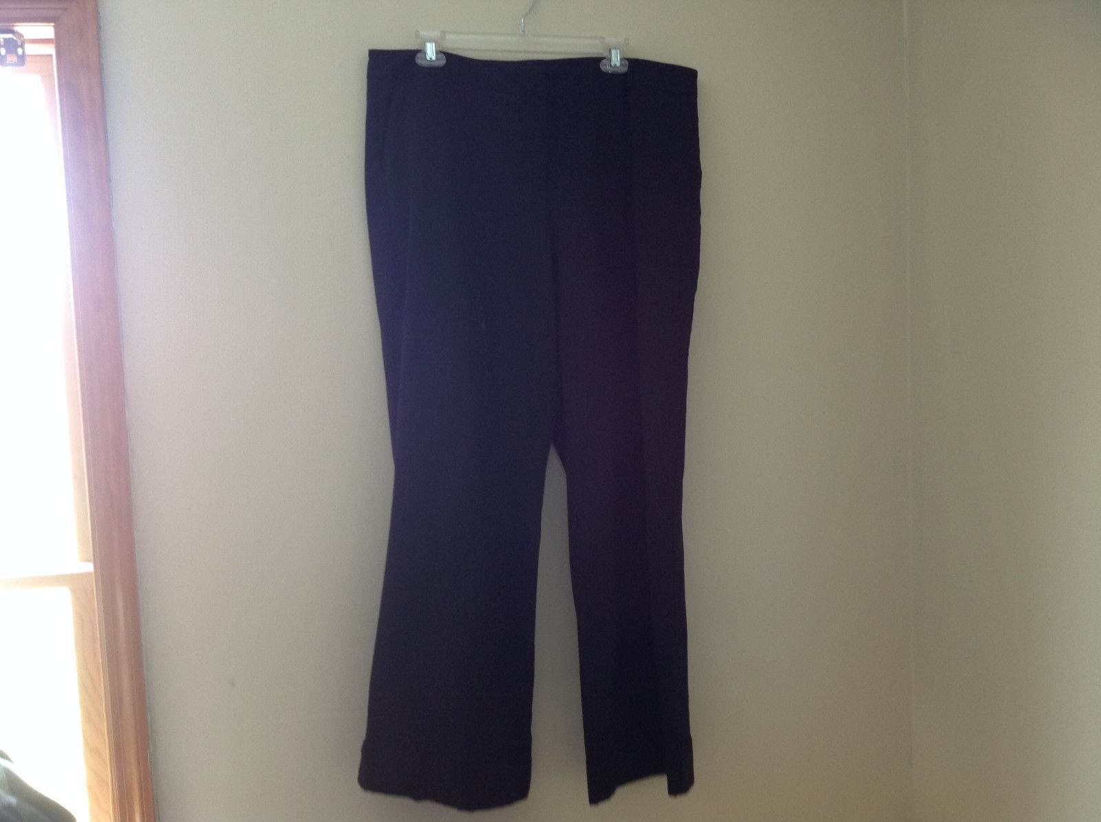 Black Dress Pant by New York Co 4 Pockets Belt Loops Pant Legs Cuffed Size 16