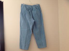Baby Blue Alfred Dunner Blue Corduroy Elastic Waistband Pants Size 14P image 6