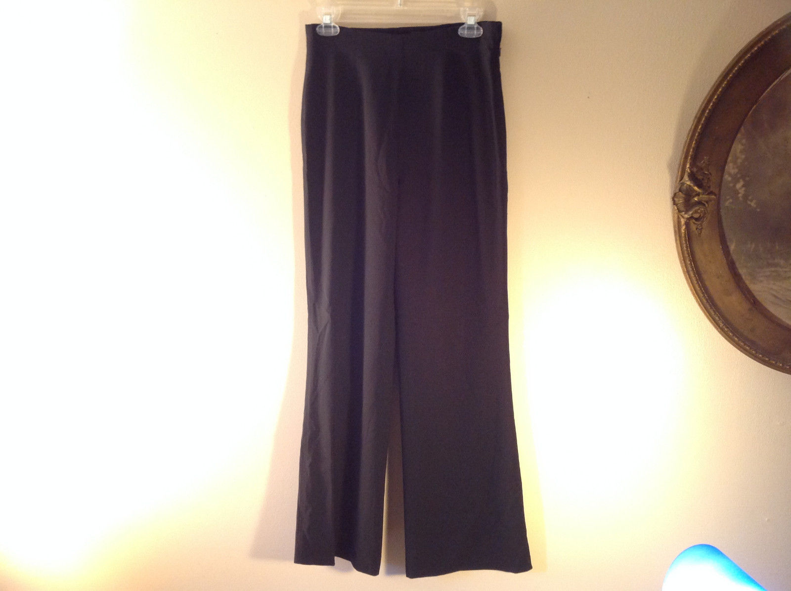 Black Dress Pants by Banana Republic Wide Bottoms Good Condition Size 4