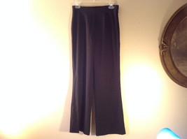 Black Dress Pants by Banana Republic Wide Bottoms Good Condition Size 4 image 1