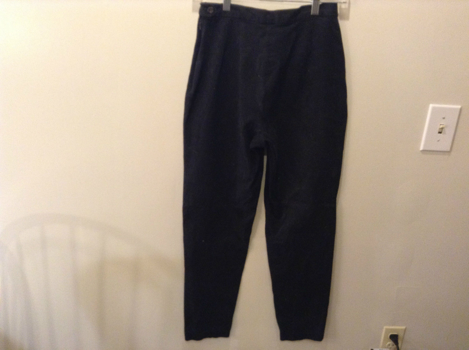Black Cotton Blend Casual Pants Gap Size 8 Great Condition