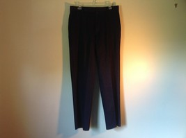 Black DOCKERS D3 Pleated Dress Pants Zipper Button Closure Size 33 by 32