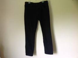 Black Denim Jeans Five Pockets by Levis Zipper Button Closure Size 38  by 30