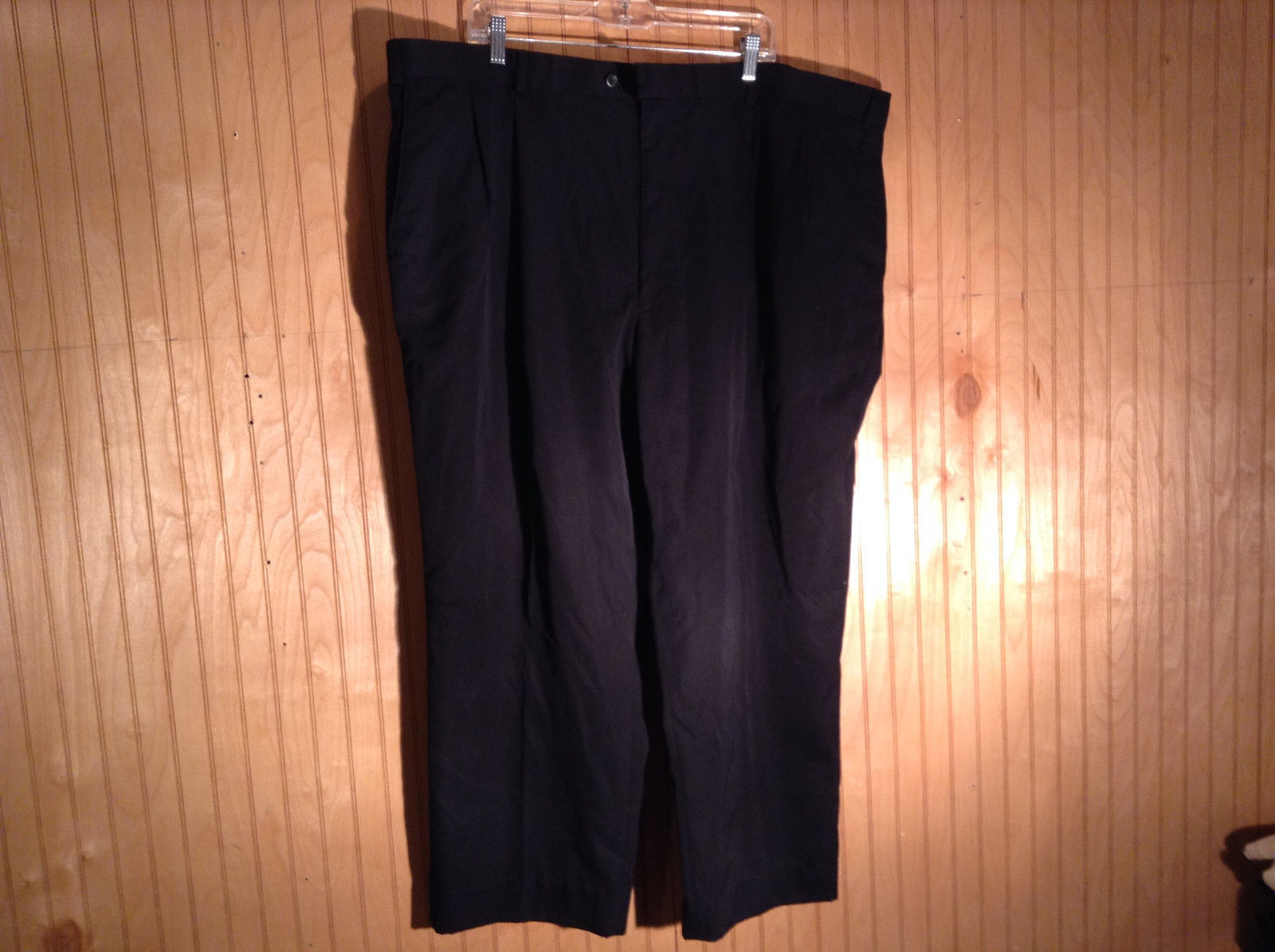 Black Dress Pants by Barrington Size 48 by 30 Zipper and Button Closure