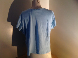 Baby Blue Short Sleeve Sweater Shirt by Jaclyn Smith Made in Guatemala Size XL image 4
