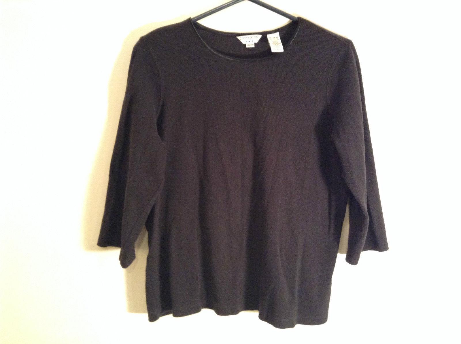 Black Covington Stretch Three Quarter Length Sleeves Sweater Size 16 to 18W
