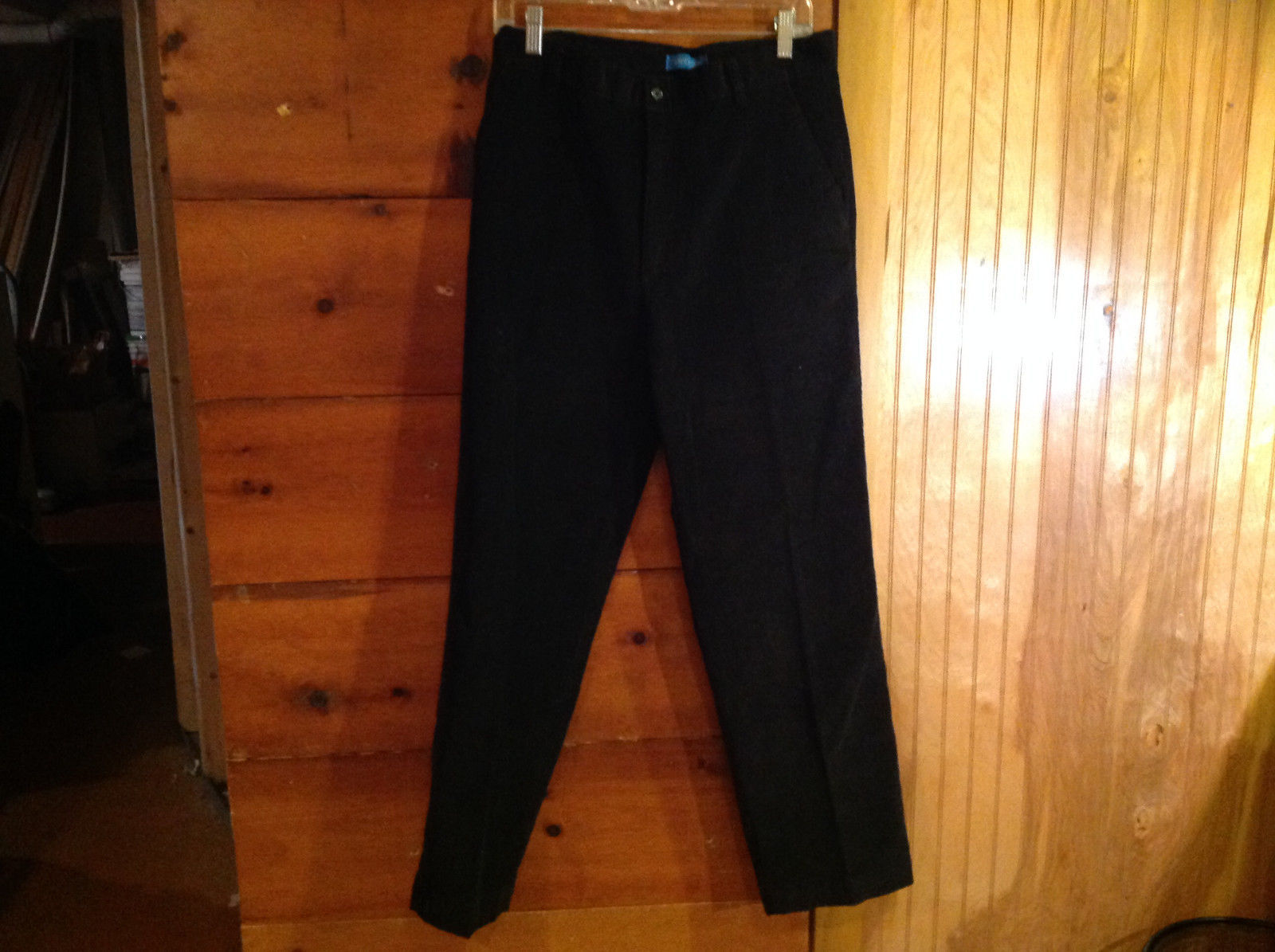 Black Corduroy 4 Pocket Pants by Savile Row Button Zipper Closure Size 32 x 30