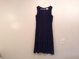 Black Fully Lined Sleeveless Coldwater Creek V Neck Dress Size 10 Back Zipper