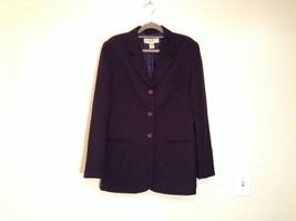 Black Fully Lined Eddie Bauer 100 Percent Wool Blazer Jacket Size 8 image 1