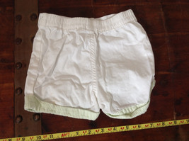 Baby Q Infant White Green Cuffed Shorts Elastic Waistband Size 18 Months image 6