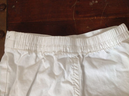 Baby Q Infant White Green Cuffed Shorts Elastic Waistband Size 18 Months image 4