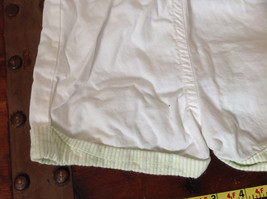 Baby Q Infant White Green Cuffed Shorts Elastic Waistband Size 18 Months image 5