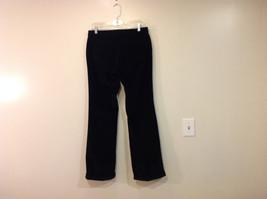 Banana Republic Black Velvet Stretch Pants with Pockets, Size 6 image 2