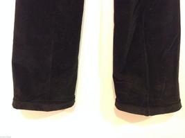 Banana Republic Black Velvet Stretch Pants with Pockets, Size 6 image 6