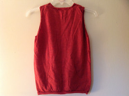 Banana Republic Red Orange Crew Neck Sweater Vest Stretchy Material Size Large image 6