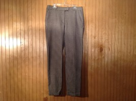 Black Gray Houndstooth H and M Dress Pants Side... - $29.69