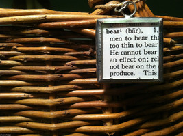 2 Sided Charm - Bear w/ Definition in metal frame image 4
