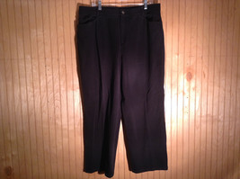 Black Jean Like Material Casual Pants by Ellen Tracy Size 16