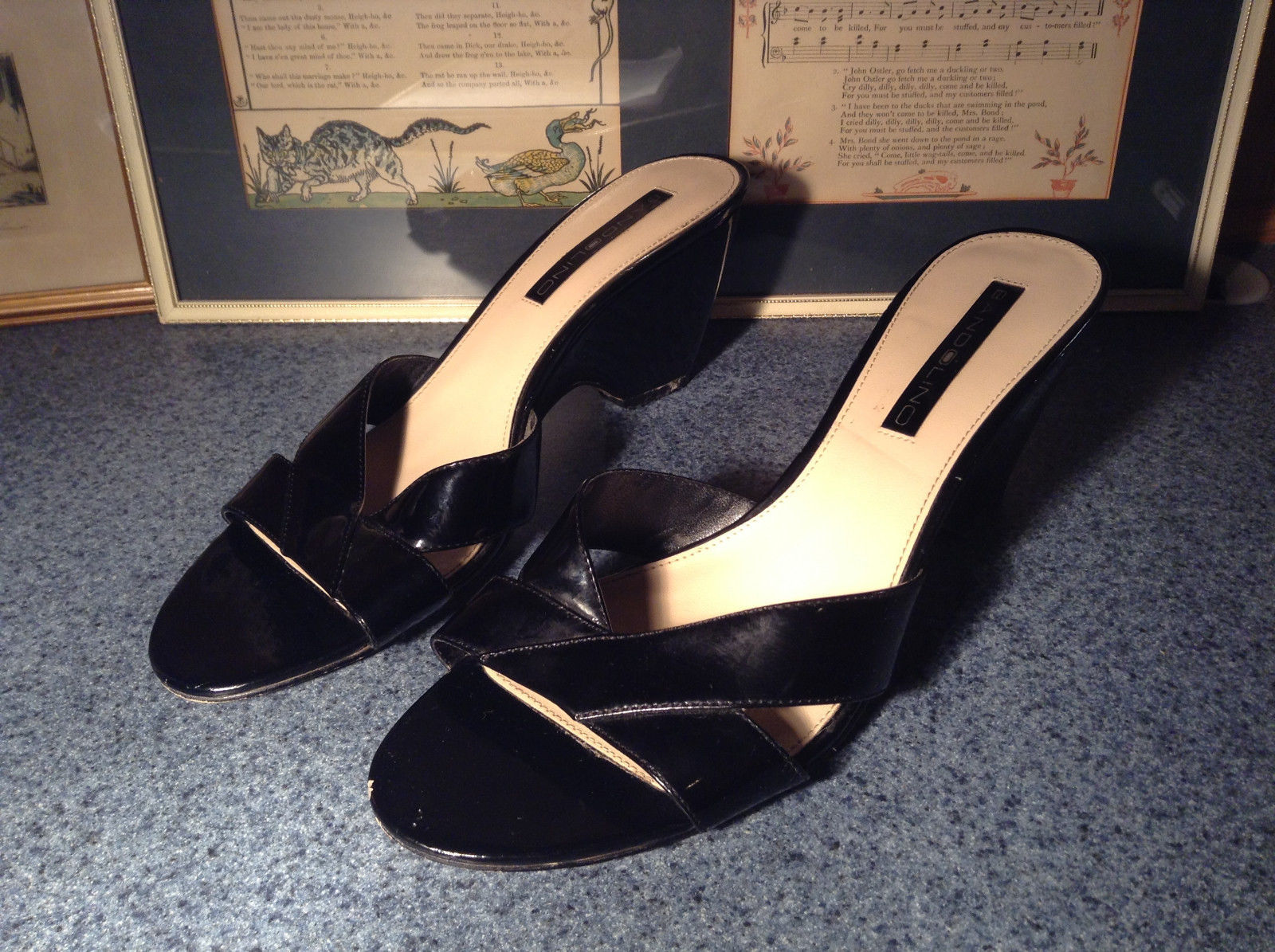 Black High Heel Shoes Bandolino Good Condition Size 9M See Pictures
