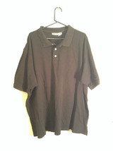 Black King Size 100 Percent Cotton Short Sleeve Tall Polo Shirt Size XXXL
