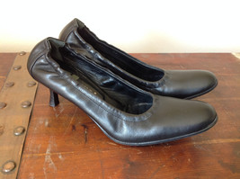 Black Kenneth Cole Shoes High Heels Leather Outside Excellent Condition Size 37 image 1