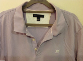 Banana Republic Mens Lavender Stretchable Cotton Polo Shirt with elephant Size L image 2