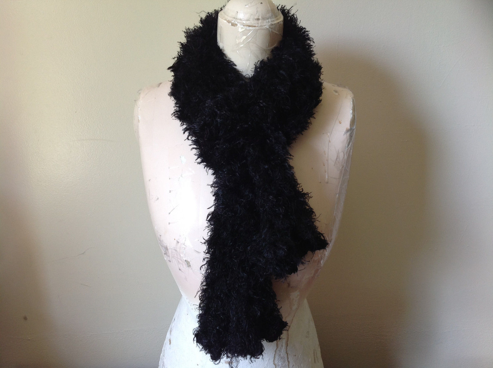 Black Magic Fuzzy Circle Scarf Can Be Worn Multiple Ways Very Expandable NO TAGS
