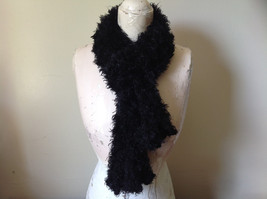 Black Magic Fuzzy Circle Scarf Can Be Worn Multiple Ways Very Expandable NO TAGS image 1
