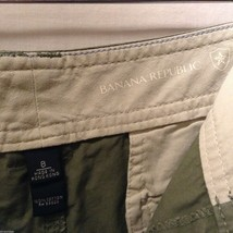 Banana Republic Womans, Olive Green Shorts, Size 8 image 6