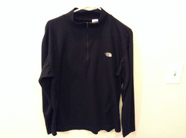 Black Long Sleeve Neck Zipper Closure Size Large Casual Shirt The North Face