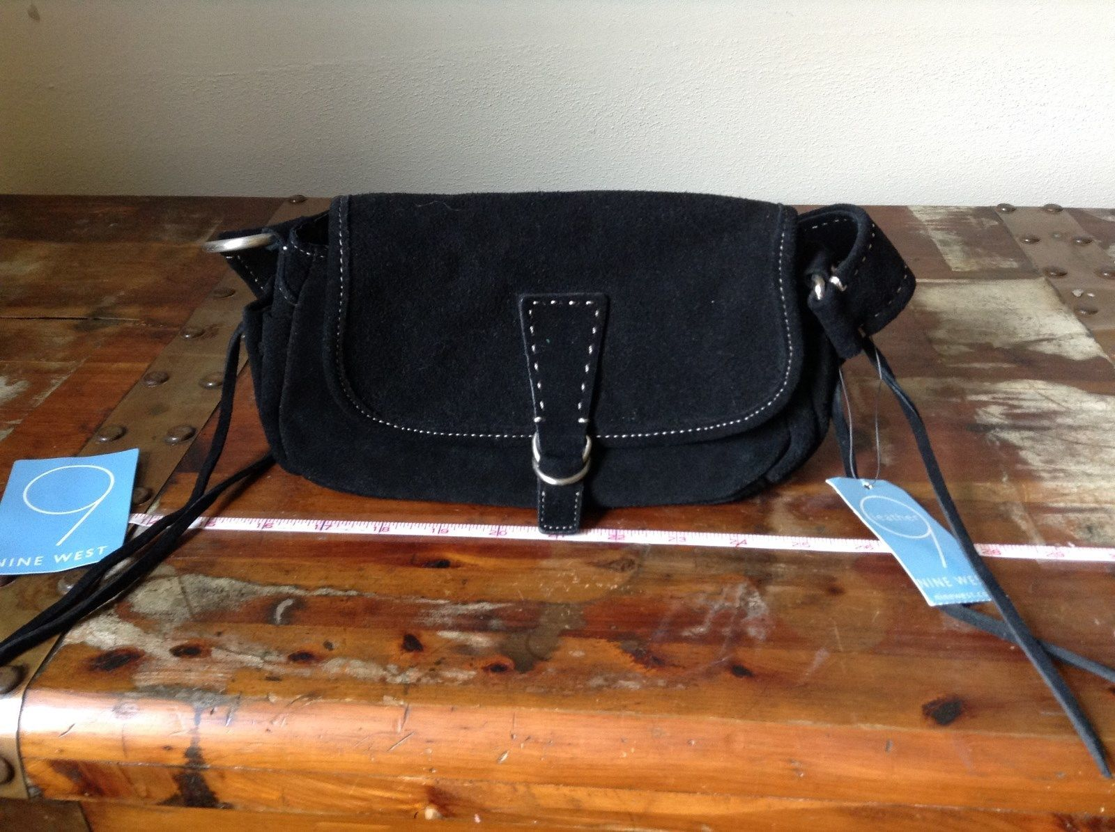 Black Nine West Leather Purse Handbag Original Tag Attached
