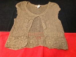 Bandolino brown short sleeve vest size large image 2