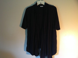 Black Open Front Shirt Short Sleeve by DK NYC Size Small