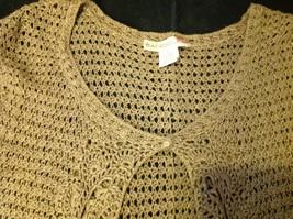 Bandolino brown short sleeve vest size large image 3