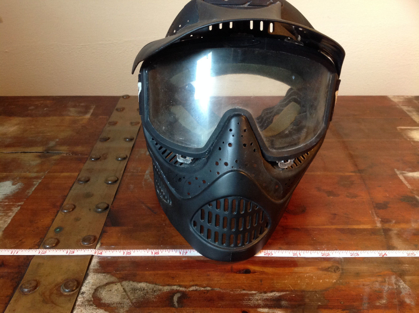 Black Paintball Mask with Goggles and  Visor