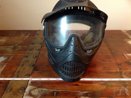 Black Paintball Mask with Goggles and  Visor image 1
