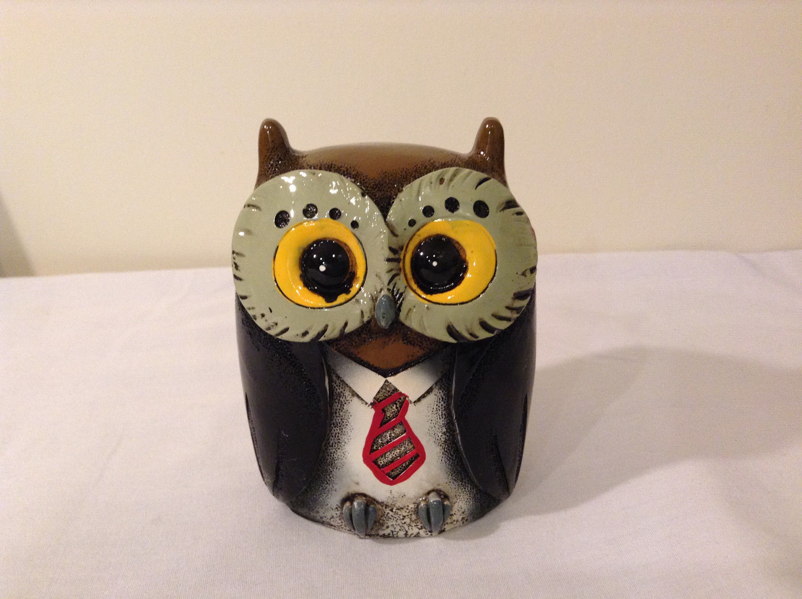 Black Piggy Bank Professor Owl New Original Packaging