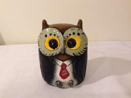 Black Piggy Bank Professor Owl New Original Packaging