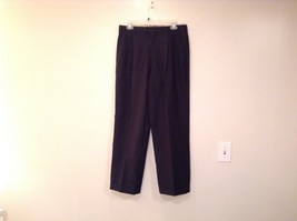 Black Pleated Front Dress Pants No Tags 100 Percent Wool Measurements Below