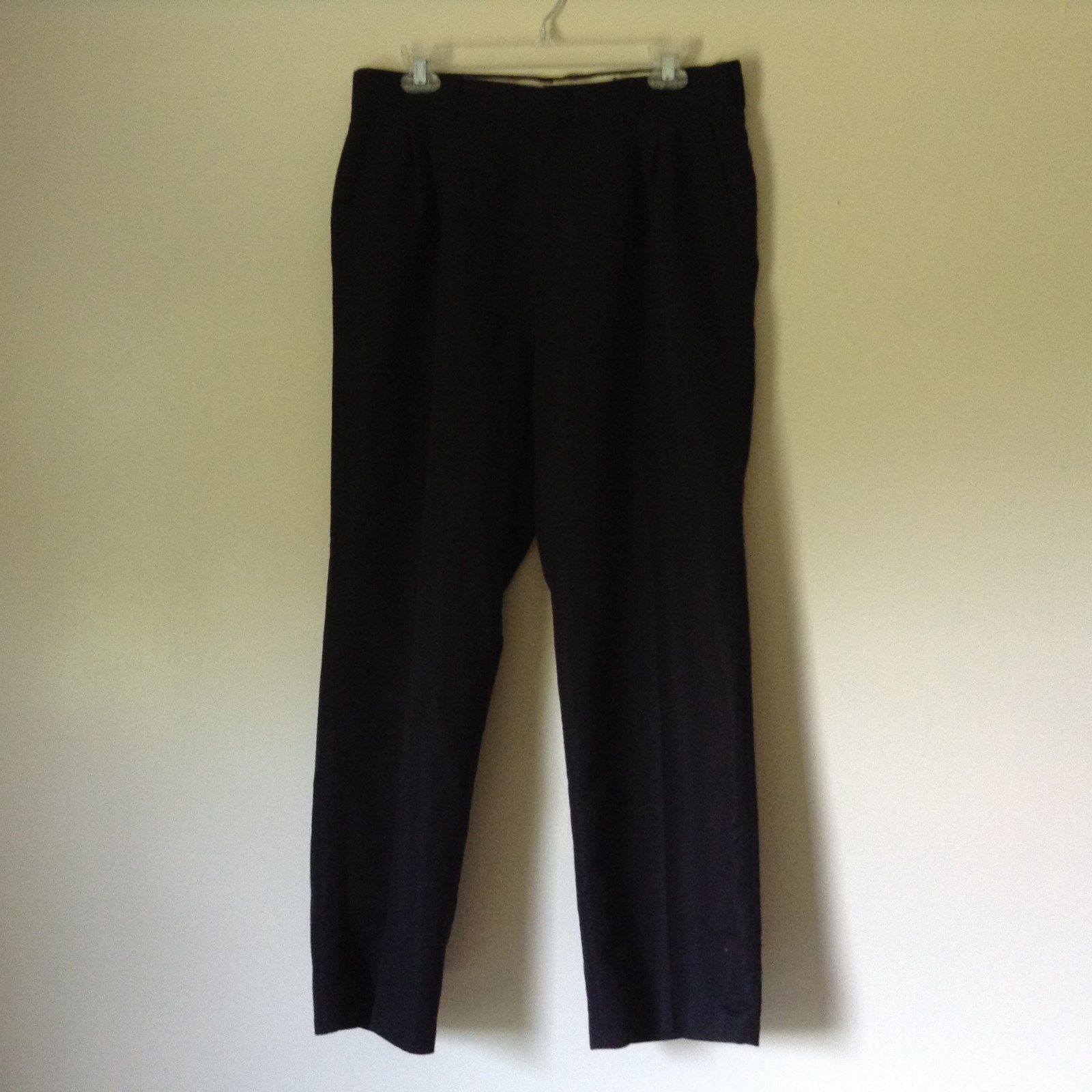 Black Pleated Dress Pants by Haggar No Size Tag Measurements Below
