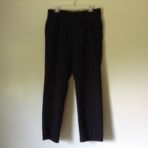Black Pleated Dress Pants by Haggar No Size Tag Measurements Below - $49.49