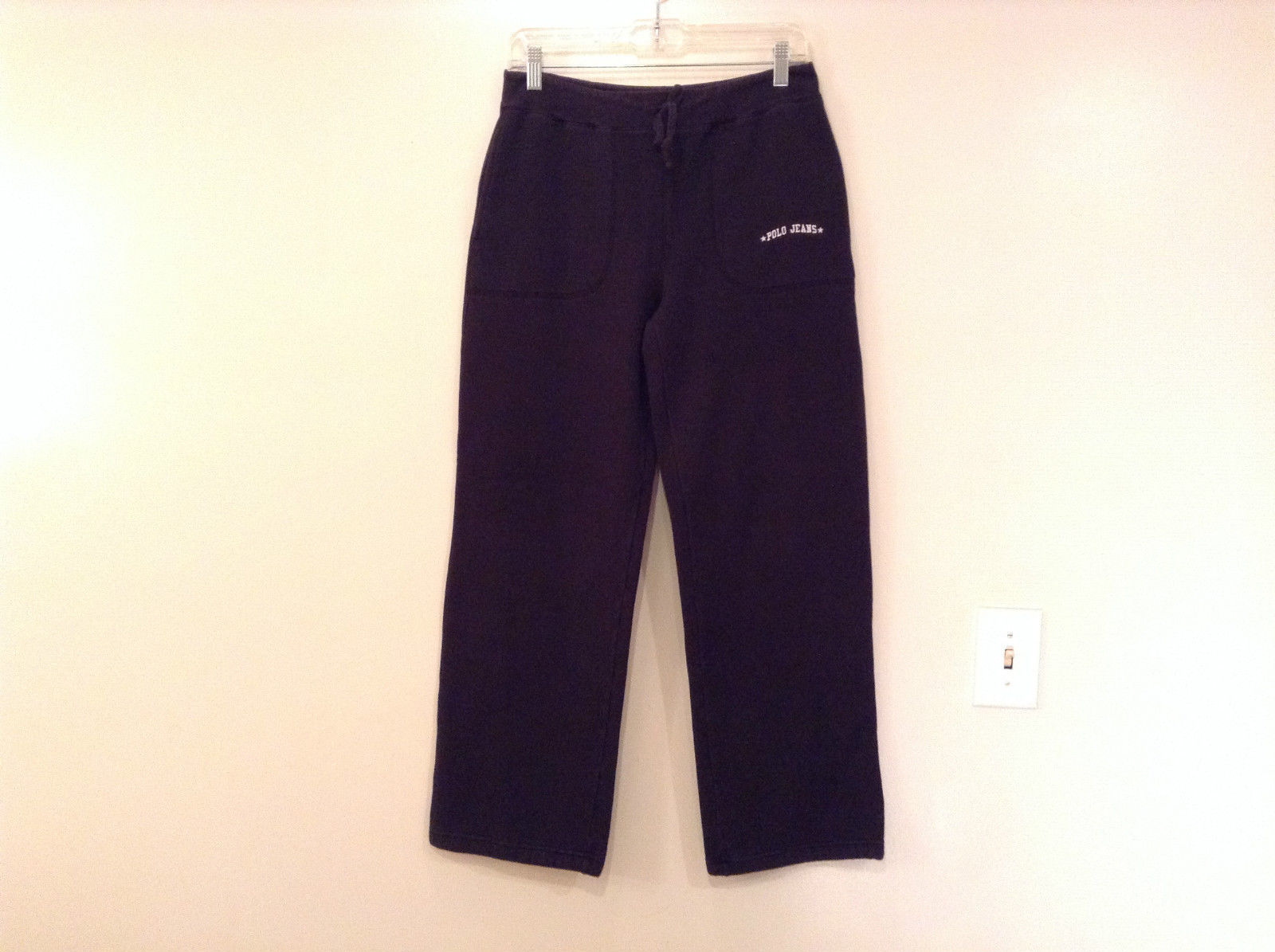 Black Polo Jeans Sweatpants Adjustable Waist String Size Small